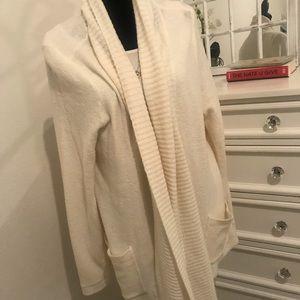 Cream open front cardigan